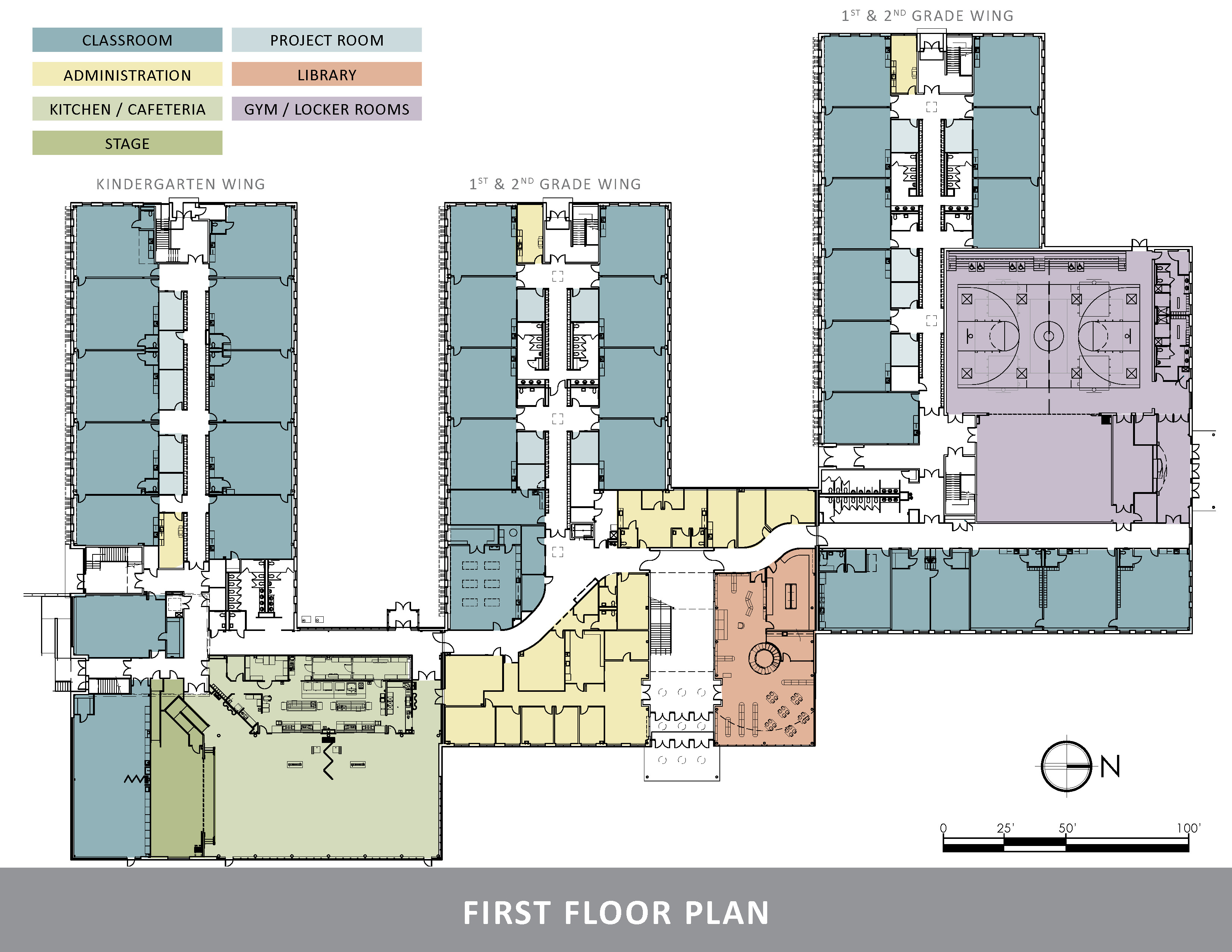Falmouth elementary school aia maine for Floor plan project