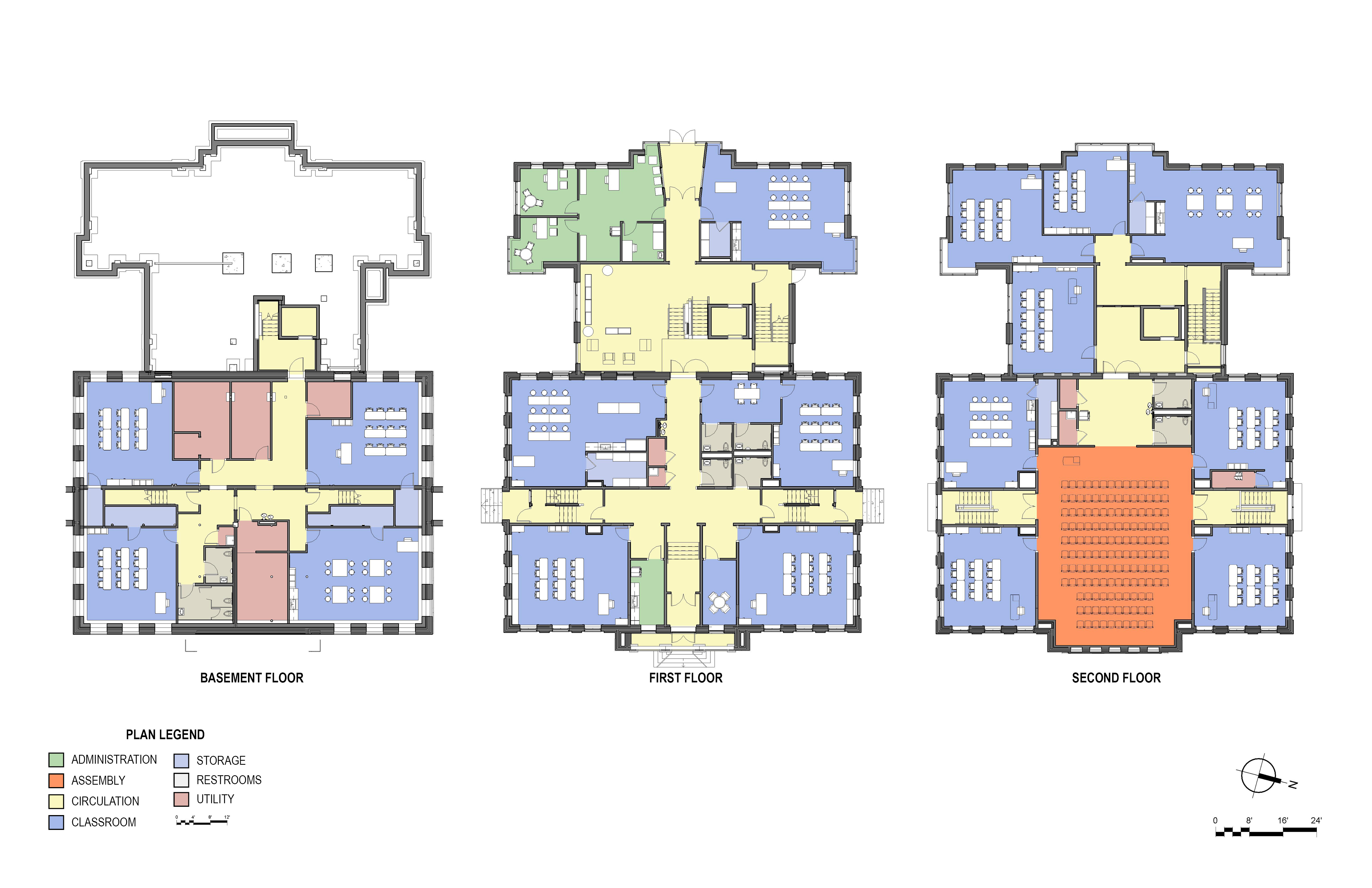 Good will hinckley moody school renovation and addition for Floor plan project